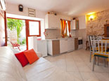 Kitchen, living and dining room in Brač rental villa