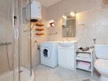 Bathroom in the Brač holiday villa