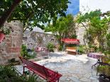 Leisure area in front of villa in Sutivan on Brač island