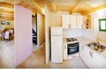 Kichen and dining room in stone rental house in Dubrovnik