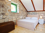 Bedroom in the holiday house for rent in Dubrovnik in Croatia