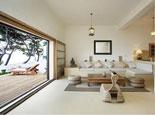 Living room in the this seaside rental villa on Brač island