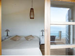 View from the terrace to the double bedroom in the Brač villa for rent