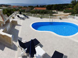 Big terrace with the pool and BBQ makes this villa in Sumartin on Brac island Dalmatia Croatia perfect for your summer vacation