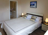 Bedroom in villa with pool in Sumartin on Brac island in Dalmatia in Croatia
