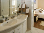 Bathroom in villa with pool in Sumartin on Brac island in Dalmatia in Croatia