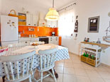 Kitchen on the first floor apartment in the holiday house in Sutivan on Brač Island