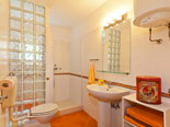 Bathroom in Brač house with pool for rent
