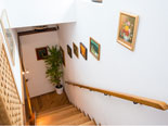 Staircase that leads from the living room to the first floor of this Dubrovnik villa