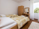 Twin bedroom on the first floor in this Dubrovnik villa