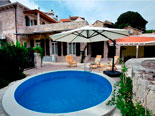 Stone holiday villa with swimming pool on Hvar Island