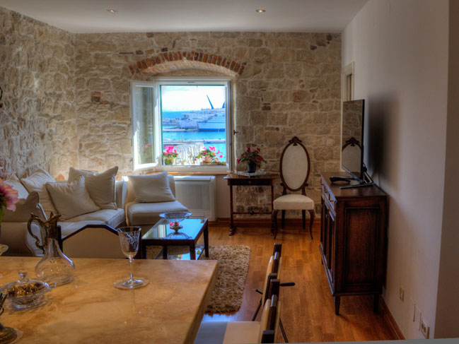 View On The Living Room Form Dining In Luxury Apartment Split Dalmatia Croatia