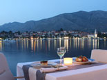 Restaurant view from five stars Hotel Croatia in Cavtat - Dubrovnik