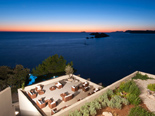 Sunset view from the five stars Hotel Dubrovnik Palace