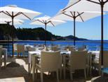 Beach bar Grota in five star Dubrovnik hotel Bellevue