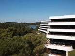 The view from the back of the luxury and design hotel Lone in Rovinj Istria Croatia