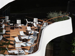 Terrace in the luxury and design hotel Lone in Rovinj Istria Croatia