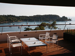 The view from the Presidential suite at the five stars and design hotel Lone in Rovinj Istria Croatia