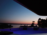 Dusk from the Presidential suite at the five stars and design hotel Lone in Rovinj Istria Croatia