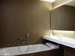 Bay suite bathroom at the five stars and design hotel Lone in Rovinj Istria Croatia