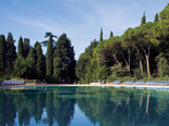 Outdoor pool at the five stars and design hotel Lone in Rovinj Istria Croatia