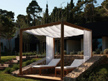 Gazzebo at relaxing area at the five stars and design hotel Lone in Rovinj Istria Croatia