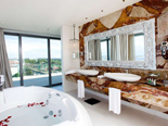 White Presidential suite bathroom at the five stars Kempinski Hotel Adriatic Istria Croatia