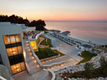 View on the beach from the five stars Kempinski Hotel Adriatic Istria Croatia