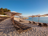 Beach at the five stars Kempinski Hotel Adriatic Istria Croatia