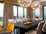 Black Presidential suite dining room at the five stars Kempinski Hotel Adriatic Istria Croatia