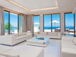 White Presidential suite living room at the five stars Kempinski Hotel Adriatic Istria Croatia