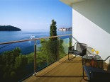 Deluxe room terrace in luxury Hotel Villa Dubrovnik in Croatia