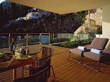 Royal suite terrace garden in luxury Hotel Villa Dubrovnik in Croatia