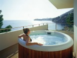 Royal suite terrace jacuzzi in luxury Hotel Villa Dubrovnik in Croatia