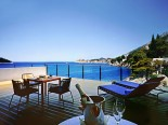 Royal suite terrace in luxury Hotel Villa Dubrovnik in Croatia