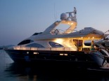 Azimut 80 by night - luxury motor yacht for charter Croatia in Sibenik and Dalmatia