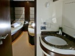 Azimut 80 bathroom - luxury motor yacht for charter Croatia in Sibenik and Dalmatia