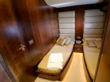Azimut 80 twin bedroom - luxury motor yacht for charter Croatia in Sibenik and Dalmatia