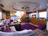 Interior of this yacht for charter in Croatia has been renovated and continues to give the luxurious experience.