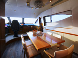 Dining table on the yacht