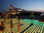 Luxury yacht for charter in Zadar by night