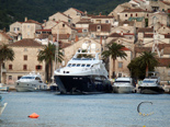 Luxury yacht for charter in Zadar in port on the island