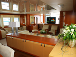 Master salon on luxury yacht for charter - 6 cabins / sleeps 12