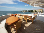 Stern deck on the luxury yacht for charter 6 cabins / sleeps 12 with home port in Zadar