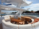 Flybridge on the luxury yacht for charter 6 cabins / sleeps 12 with home port in Zadar
