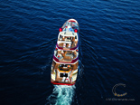 Aerial photo of the Exclusive and Luxury Super Yacht for Charter in Croatia