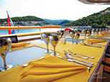 Deck on the Luxury and Exclusive 50 m charter mega yacht in Croatia based in Split