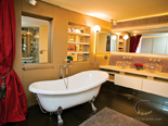 Luxury master cabin bathroom on the exclusive 50 m mega yacht for charter in Croatia based in Split