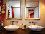 Luxury VIP cabin bathroom on the exclusive 50 m mega yacht for charter in Croatia based in Split