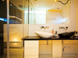 Twin cabin bathroom on the luxury mega yacht for charter in Croatia based in Split